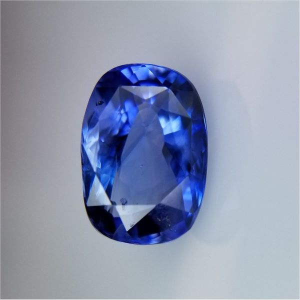 3.48ct Cushion Cut Sapphire Becky Beauchine Kulka Diamonds and Fine Jewelry Okemos, MI