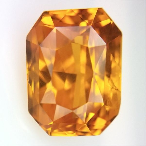 6.53ct Radiant Cut Orange Sapphire Becky Beauchine Kulka Diamonds and Fine Jewelry Okemos, MI