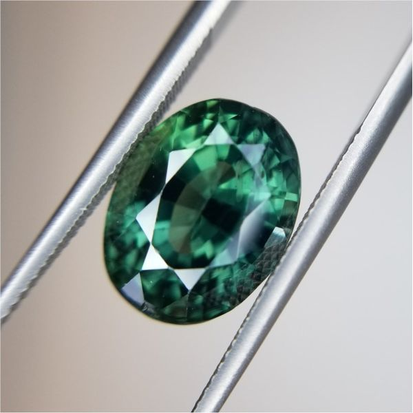 6.01ct Oval Cut Green Sapphire Becky Beauchine Kulka Diamonds and Fine Jewelry Okemos, MI