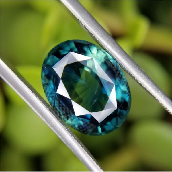 5.83ct Oval Cut Blue-Green Sapphire Becky Beauchine Kulka Diamonds and Fine Jewelry Okemos, MI