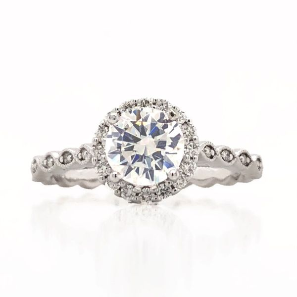 Halo Engagement Ring Becky Beauchine Kulka Diamonds and Fine Jewelry Okemos, MI