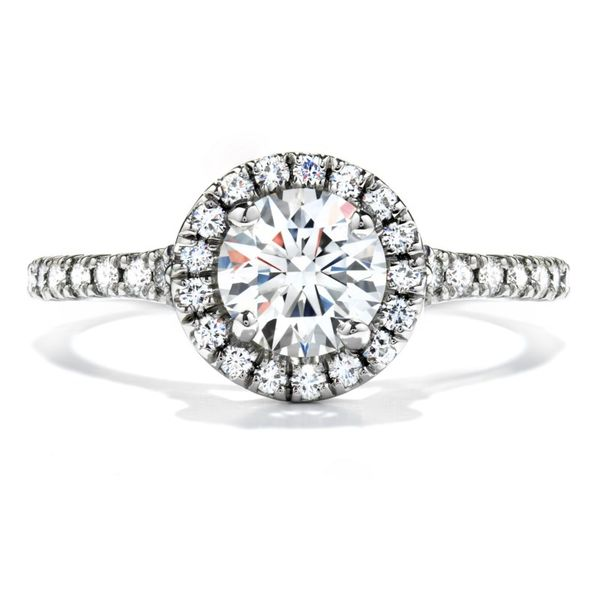 Hearts on Fire Transcend Single Halo Engagement Ring Becky Beauchine Kulka Diamonds & Fine Jewelry Okemos, MI