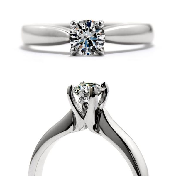 Hearts on Fire Serenity Solitaire Engagement Ring Image 2 Becky Beauchine Kulka Diamonds & Fine Jewelry Okemos, MI