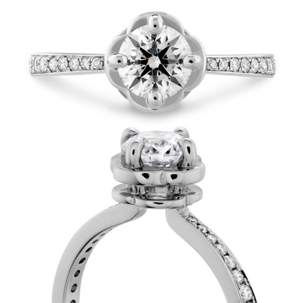 Hearts on Fire Desire Engagement Ring Image 3 Becky Beauchine Kulka Diamonds & Fine Jewelry Okemos, MI