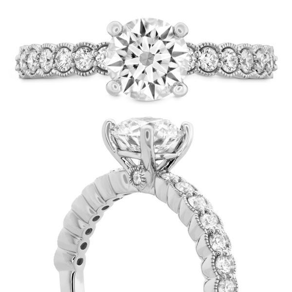 Hearts on Fire Isabelle Milgrain engagement ring Image 3 Becky Beauchine Kulka Diamonds and Fine Jewelry Okemos, MI
