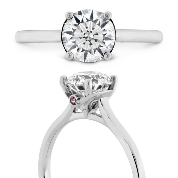 Hearts on Fire Sloane Silhouette Solitaire Engagement Ring Image 3 Becky Beauchine Kulka Diamonds and Fine Jewelry Okemos, MI