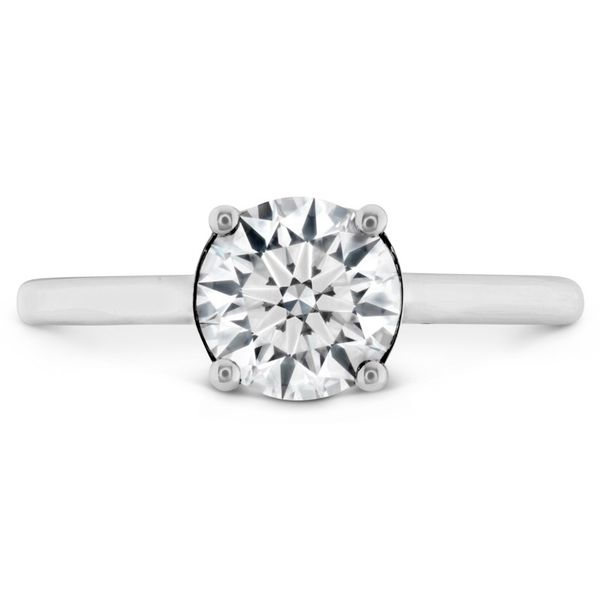 Hearts on Fire Sloane Silhouette Solitaire Engagement Ring Becky Beauchine Kulka Diamonds and Fine Jewelry Okemos, MI