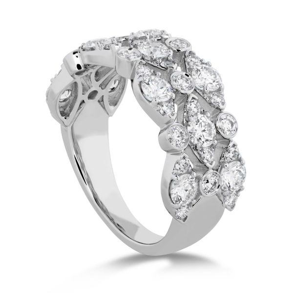 Hearts on Fire Bezel Regal Triple diamond ring Image 3 Becky Beauchine Kulka Diamonds and Fine Jewelry Okemos, MI