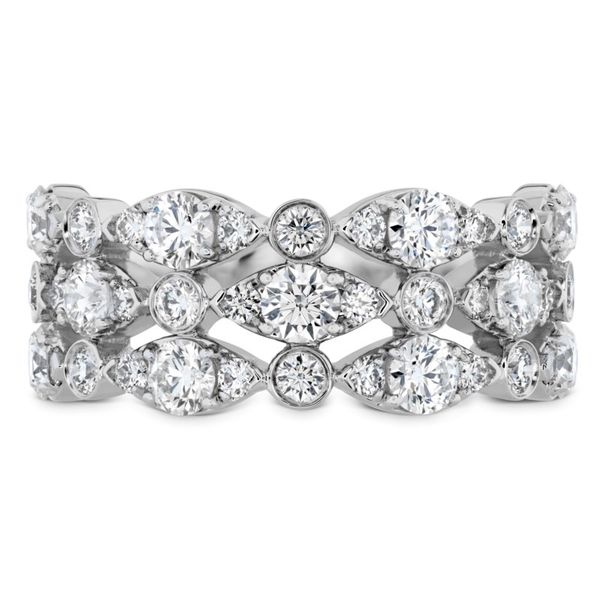 Hearts on Fire Bezel Regal Triple diamond ring Becky Beauchine Kulka Diamonds and Fine Jewelry Okemos, MI