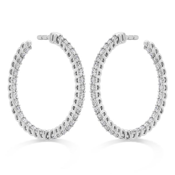 Small Hoop Earrings by Hearts on Fire Becky Beauchine Kulka Diamonds and Fine Jewelry Okemos, MI