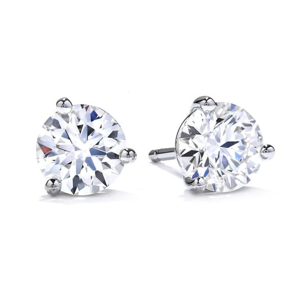 Hearts on Fire three prong stud earrings Becky Beauchine Kulka Diamonds and Fine Jewelry Okemos, MI