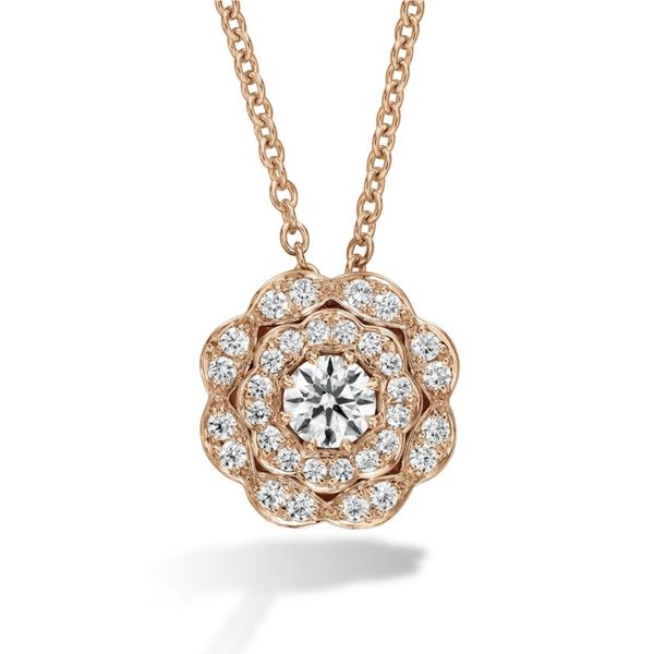 Hearts on Fire Lorelei double halo diamond pendant Becky Beauchine Kulka Diamonds and Fine Jewelry Okemos, MI