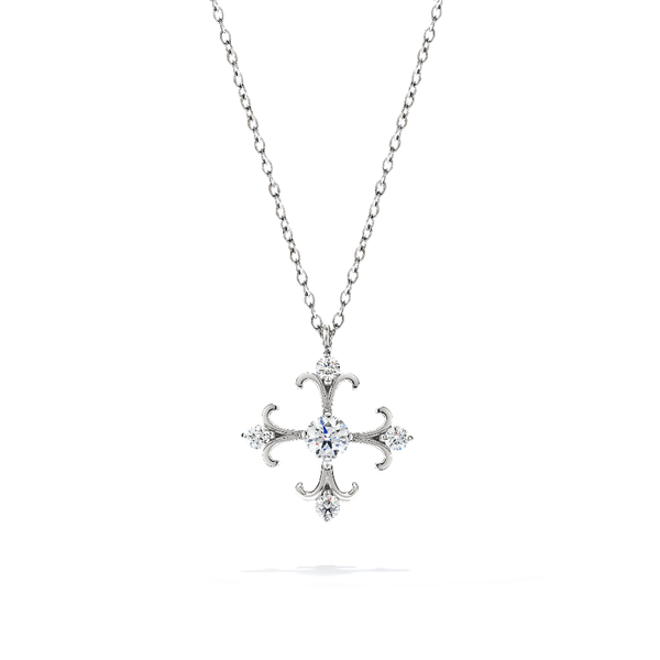 Hearts on Fire Fairy Tale Cross Pendant Becky Beauchine Kulka Diamonds & Fine Jewelry Okemos, MI