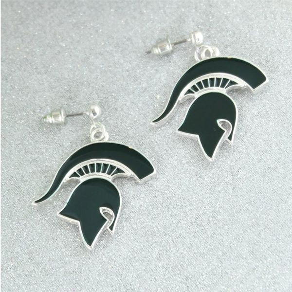 MSU Spartan Earrings Becky Beauchine Kulka Diamonds and Fine Jewelry Okemos, MI