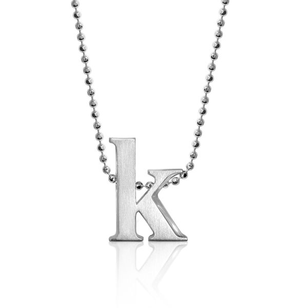 Block K Letter Pendant by Alex Woo Becky Beauchine Kulka Diamonds and Fine Jewelry Okemos, MI
