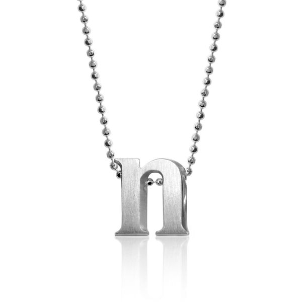 Block N Letter Pendant by Alex Woo Becky Beauchine Kulka Diamonds and Fine Jewelry Okemos, MI