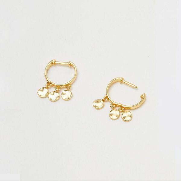 Chloe Mini Huggie Earrings with Gold Finish Image 2 Becky Beauchine Kulka Diamonds and Fine Jewelry Okemos, MI