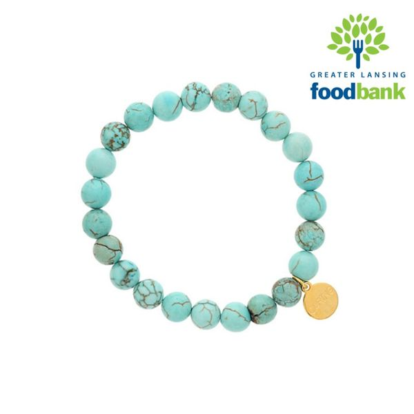 Blue Howlite (Embrace)let for the Greater Lansing Food Bank | Becky  Beauchine Kulka Diamonds and Fine Jewelry | Okemos, MI
