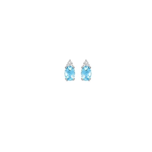 Daimond Blue Topaz/ Aquamarine Earrings Bell Jewelers Murfreesboro, TN