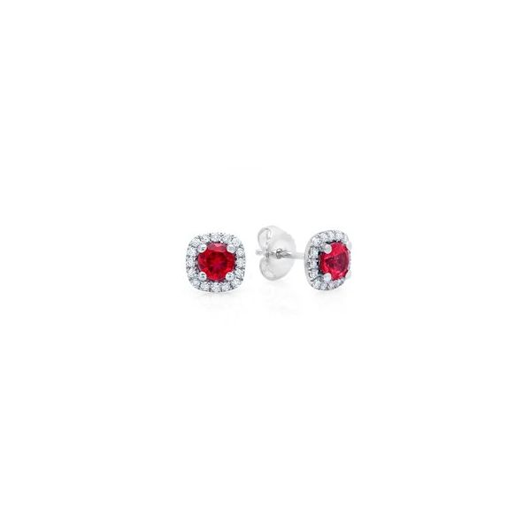 Diamond Ruby Earrings Bell Jewelers Murfreesboro, TN