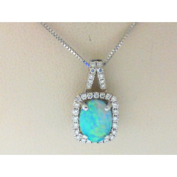Diamond Opal Necklace Bell Jewelers Murfreesboro, TN