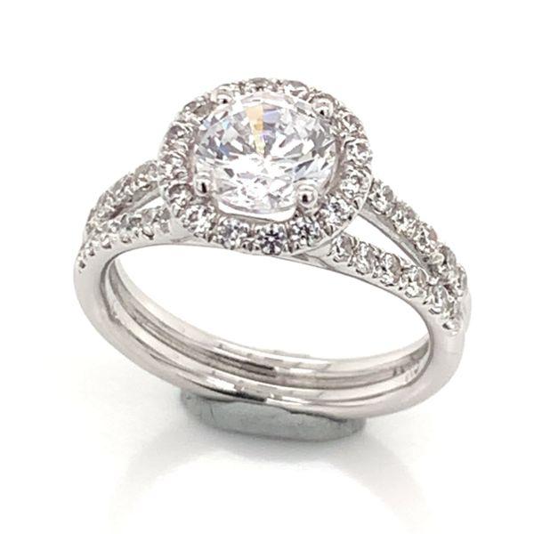 14 Karat White Gold Engagement Ring 001 100 00078 Tahoe City Bluestone Jewelry Tahoe City Ca