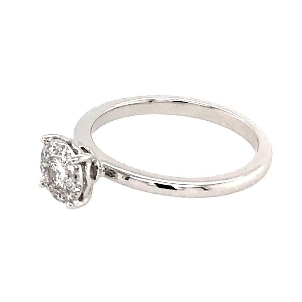 14 Karat White Gold Diamond Engagement Ring Image 2 Bluestone Jewelry Tahoe City, CA