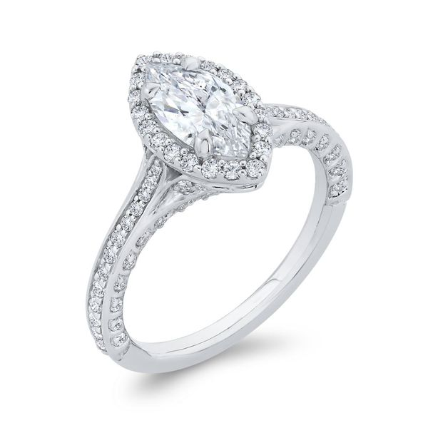 14 Karat White Gold Marquise Diamond Engagement Ring- Special Order Only Image 2 Bluestone Jewelry Tahoe City, CA