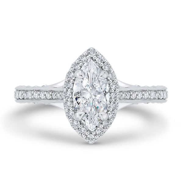 14 Karat White Gold Marquise Diamond Engagement Ring- Special Order Only Bluestone Jewelry Tahoe City, CA