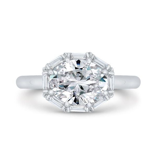 14 Karat White Gold Oval Diamond Engagement Ring- Special Order Only Bluestone Jewelry Tahoe City, CA