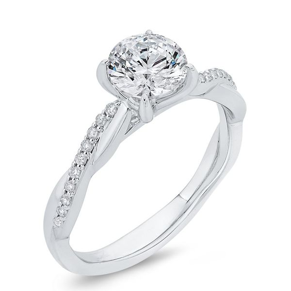 14K White Gold Diamond Engagement Ring- Special Order Only Image 2 Bluestone Jewelry Tahoe City, CA