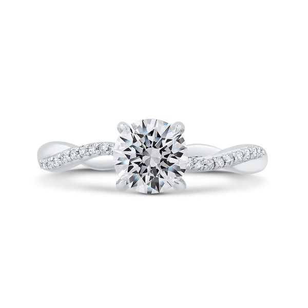 14K White Gold Diamond Engagement Ring- Special Order Only Bluestone Jewelry Tahoe City, CA