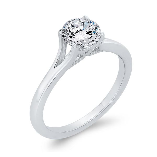 14K White Gold Solitare Diamond Engagement Ring- Special Order Only Image 2 Bluestone Jewelry Tahoe City, CA