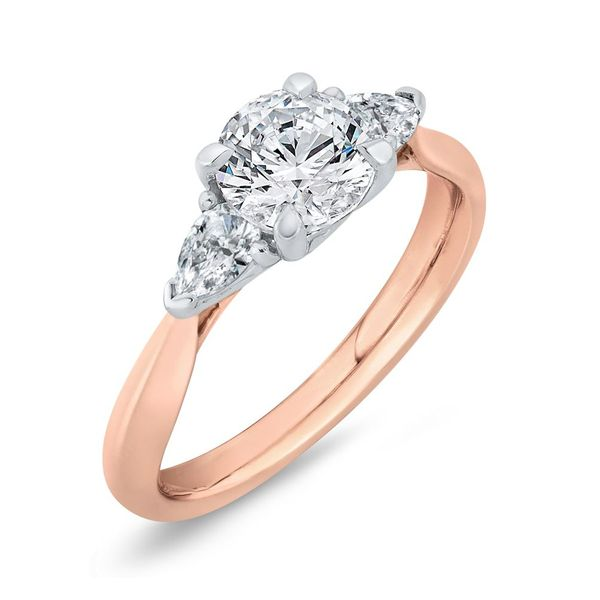 14K White & Rose Gold Diamond 3 Stone Engagement Ring- Special Order Only Image 2 Bluestone Jewelry Tahoe City, CA