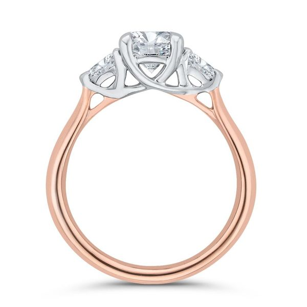 14K White & Rose Gold Diamond 3 Stone Engagement Ring- Special Order Only Image 4 Bluestone Jewelry Tahoe City, CA