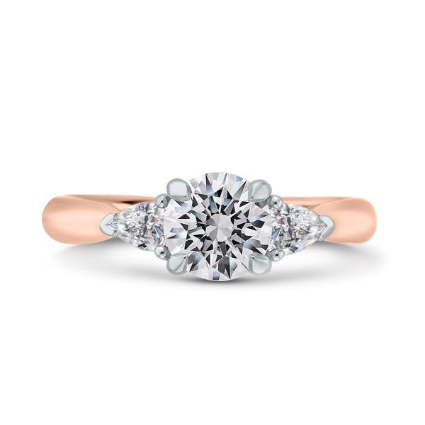 14K White & Rose Gold Diamond 3 Stone Engagement Ring- Special Order Only Bluestone Jewelry Tahoe City, CA