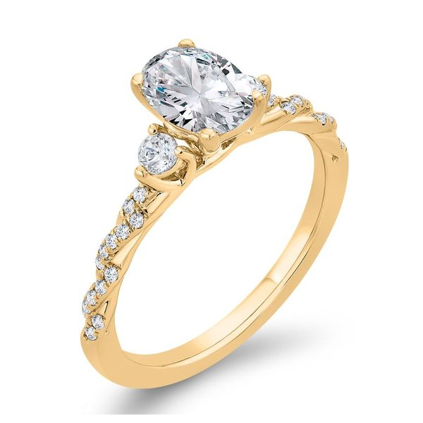 14 Karat Yellow Gold Diamond 3 Stone Engagement Ring- Special Order Only Image 2 Bluestone Jewelry Tahoe City, CA