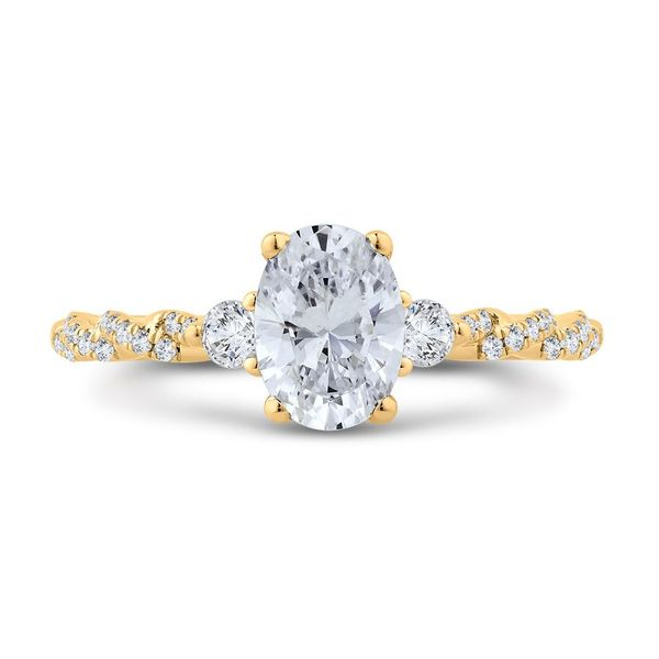14 Karat Yellow Gold Diamond 3 Stone Engagement Ring- Special Order Only Bluestone Jewelry Tahoe City, CA