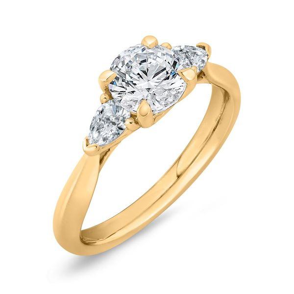 14K Yellow Gold Diamond 3 Stone Engagement Ring- Special Order Only Image 2 Bluestone Jewelry Tahoe City, CA