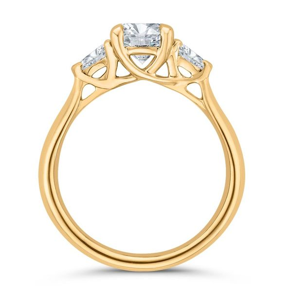 14K Yellow Gold Diamond 3 Stone Engagement Ring- Special Order Only Image 4 Bluestone Jewelry Tahoe City, CA