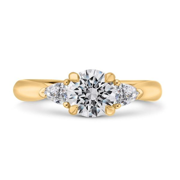 14K Yellow Gold Diamond 3 Stone Engagement Ring- Special Order Only Bluestone Jewelry Tahoe City, CA