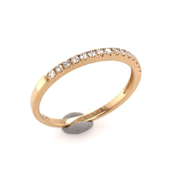14 Karat Yellow Gold Diamond Wedding Band Bluestone Jewelry Tahoe City, CA