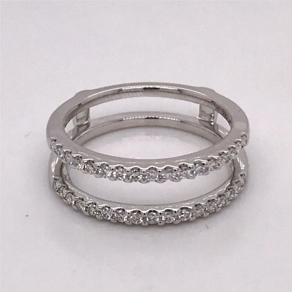 14 Karat White Gold Wedding Band Image 2 Bluestone Jewelry Tahoe City, CA