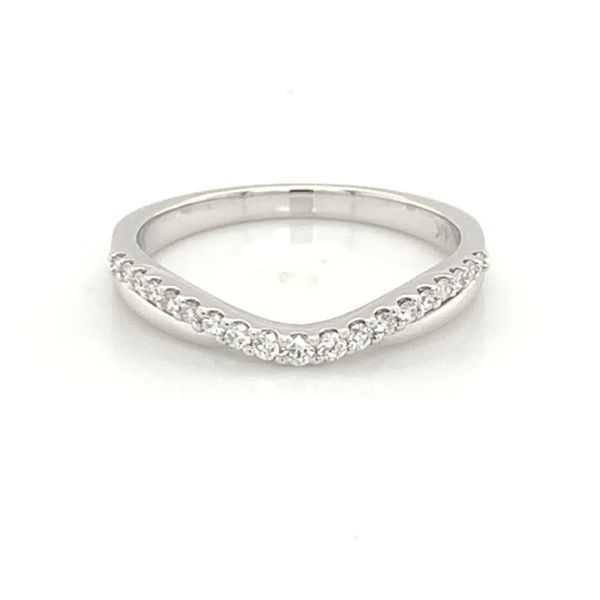 14K White Gold Wedding Band and/or Fashion Ring w/ 0.17cttw of Diamonds Image 2 Bluestone Jewelry Tahoe City, CA