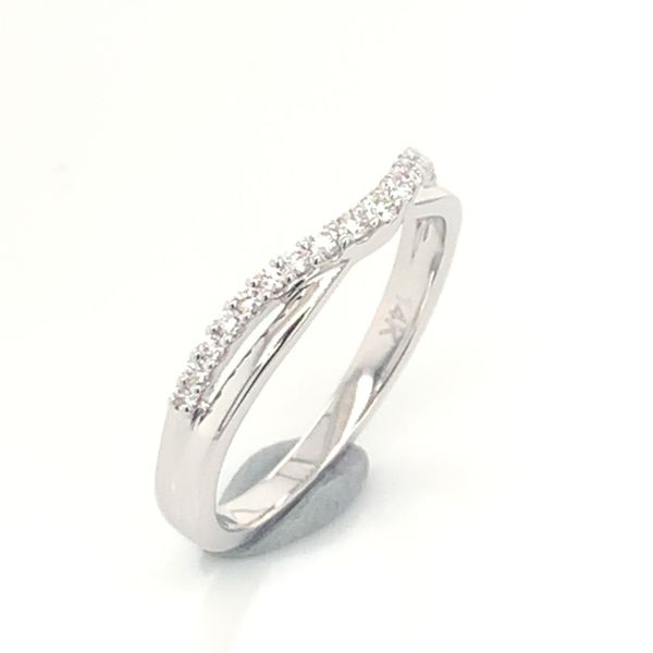 14K White Gold Wedding Band and/or Fashion Ring w/ 0.17cttw of Diamonds Image 3 Bluestone Jewelry Tahoe City, CA