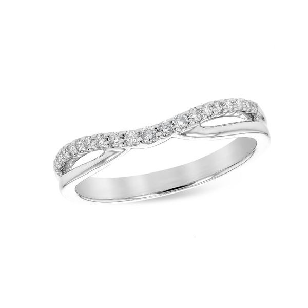 14K White Gold Wedding Band and/or Fashion Ring w/ 0.17cttw of Diamonds Bluestone Jewelry Tahoe City, CA