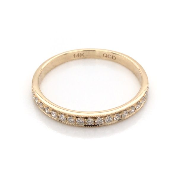 14K Yellow Gold Wedding Band with Diamonds Image 3 Bluestone Jewelry Tahoe City, CA