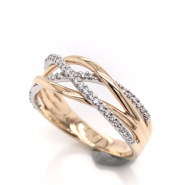 14kt Yellow and White Gold Diamond Ring Bluestone Jewelry Tahoe City, CA