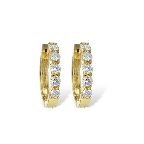 14 Karat Yellow Gold Diamond Earrings Bluestone Jewelry Tahoe City, CA