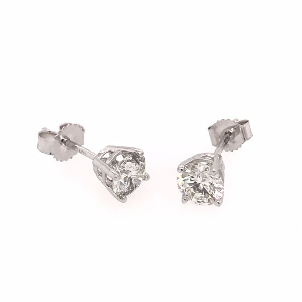14 Karat White Gold 1.00 Carat Diamond Stud Earrings Bluestone Jewelry Tahoe City, CA
